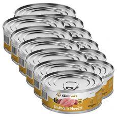 Konzerva pre mačky MARTY ProCarnivora Chicken & Beef 12 x 100 g