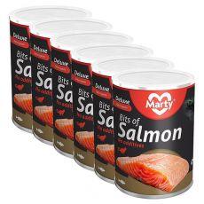 Konzerva pre mačky MARTY Deluxe Bits of Salmon 6 x 400 g