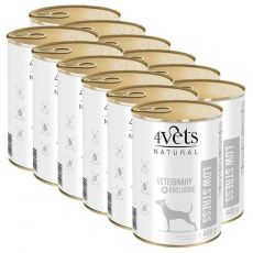 4Vets Natural Veterinary Exclusive LOW STRESS 12 x 400 g