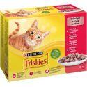 Kapsičky Friskies Cat kura, hovädzie, jahňa a kačka v šťave 12 x 85 g