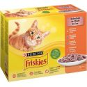 Kapsičky Friskies Cat kura, kačka, losos a morka v šťave 12 x 85 g