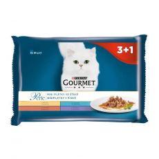 Kapsičky Gourmet Perle, mini filetky v šťave 4 x 85 g
