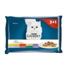 Kapsičky Gourmet Perle Duo mäsový mix 4 x 85 g