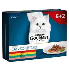 Kapsičky Gourmet Perle, mini filetky v šťave 8 x 85 g
