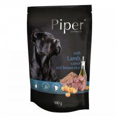 Kapsička Piper Adult s jahňacinou, mrkvou a hnedou ryžou 500 g