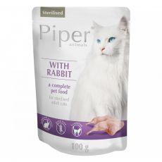 Kapsička Piper Cat Sterilised s králikom 100 g