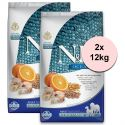 Farmina N&D dog OCEAN Adult Medium & Maxi Codfish and Orange 2 x 12 kg