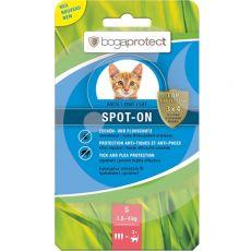 Antiparazitné kvapky pre mačky bogaprotect SPOT-ON S, 3 x 0,7 ml