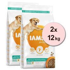 Iams Dog Adult Light in Fat, Chicken 2 x 12 kg