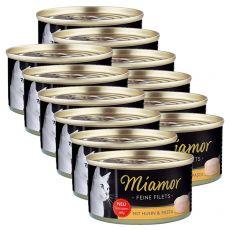 Konzerva Miamor Filet kura a cestoviny 12 x 100 g