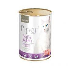 Konzerva Piper Cat Sterilised s králikom 400 g