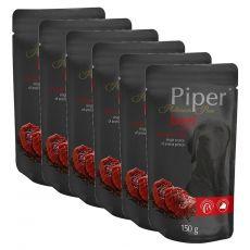 Kapsička Piper Platinum Pure hovädzie a hnedá ryža 6 x 150 g