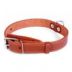 COLLAR kožený obojok pre psa hnedý 32 - 40 cm, 20 mm