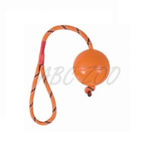 Gumená loptička pre psa na šnúrke - 6cm