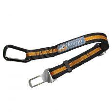 KURGO Direct to Seatbelt Tether Orange/Black, bezpečnostný autopás s upínacím mechanizmom