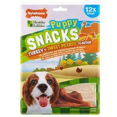 Nylabone Edible Snacks Puppy turkey & sweet potatoes S 12 pcs
