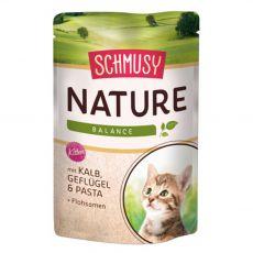 Schmusy Nature Kitten kapsička teľacie a hydina 100 g