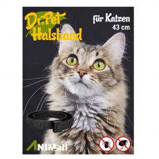 Dr.Pet antiparazitárny obojok pre mačky BIELY 43 cm