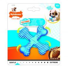 Nylabone Puppy Teething X Bone Beef S
