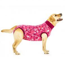 Pooperačné oblečenie pre psa S+ kamufláž ružová
