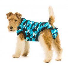 Pooperačné oblečenie pre psa S+ kamufláž modrá