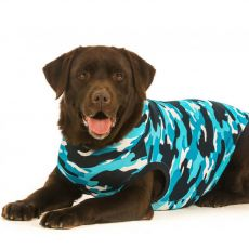 Pooperačné oblečenie pre psa XL kamufláž modrá