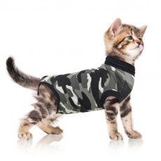 Pooperačné oblečenie pre mačku S kamufláž
