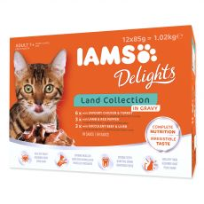 Iams Cat Multibox kapsičky zo suchozemského mäsa 12 x 85 g