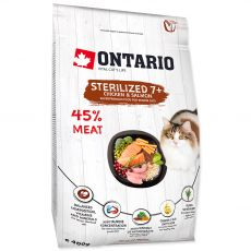 Ontario Cat Sterilised 7+, 400 g