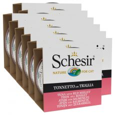 Schesir cat tuniak a červená parmica v želé 12 x 85 g