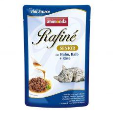 Animonda Rafiné Senior Cat kura, teľacie a syr 100 g