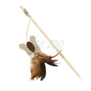 Hračka pre mačku - motýlik na drevenej tyčke