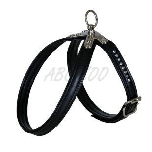 Postroj pre psov swarovski čierny - XS, 27 - 32 cm