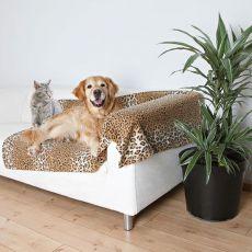 Deka pre psov a mačky - fleecová, leopard