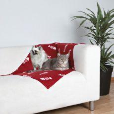 Deka pre mačky a psy - fishbone