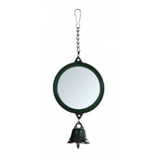 Zrkadlo so zvončekom pre vtáčiky, 5,5 cm