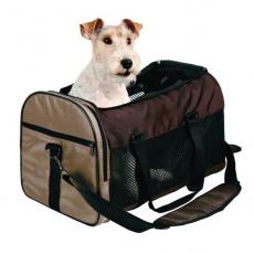 Taška na psy a mačky prepravná - hnedá, 31 x 32 x 52 cm