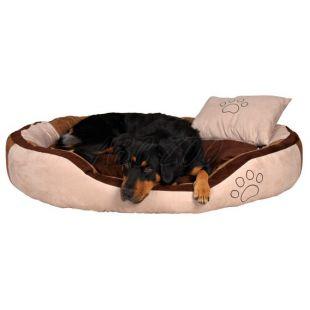 Pelech pre psa s vankúšikom - semiš, 60 x 50 cm
