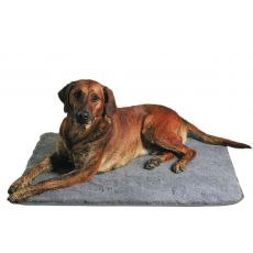Ležadlo pre psa sivé - 75 × 50 cm