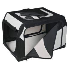 Prepravný box pre psa s kovovým rámom - 91 × 58 × 61 cm