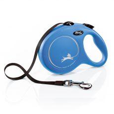 Flexi NEW CLASSIC vodítko L do 50kg, 8m popruh – modré