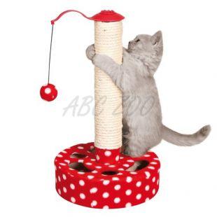 Škrabadlo pre mačky s hračkou
