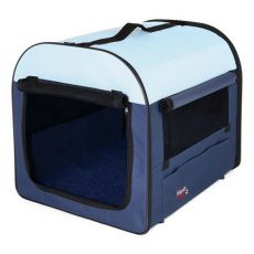 Transportný box pre psov - tmavo/svetlo modrá, 50 x 50 x 60 cm