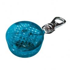 Blikač pre psov - modrý, na baterky