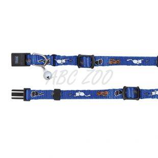 Obojok pre mačky s motívom, modrý - 15 - 20 cm