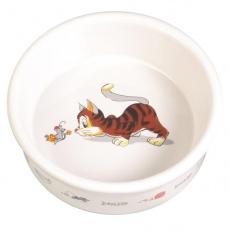 Miska pre mačku s motívom, keramická - 0,2l