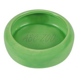 Keramická miska pre zajace so zahnutým okrajom - 400 ml