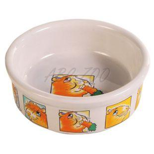 Miska pre morčatá keramická s obrázkami - 240 ml