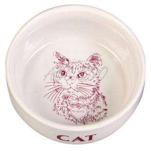 Miska pre mačky, keramická s obrázkom - 0,3l