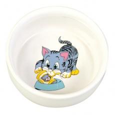 Miska pre mačičku s obrázkom, keramická - 0,3l
